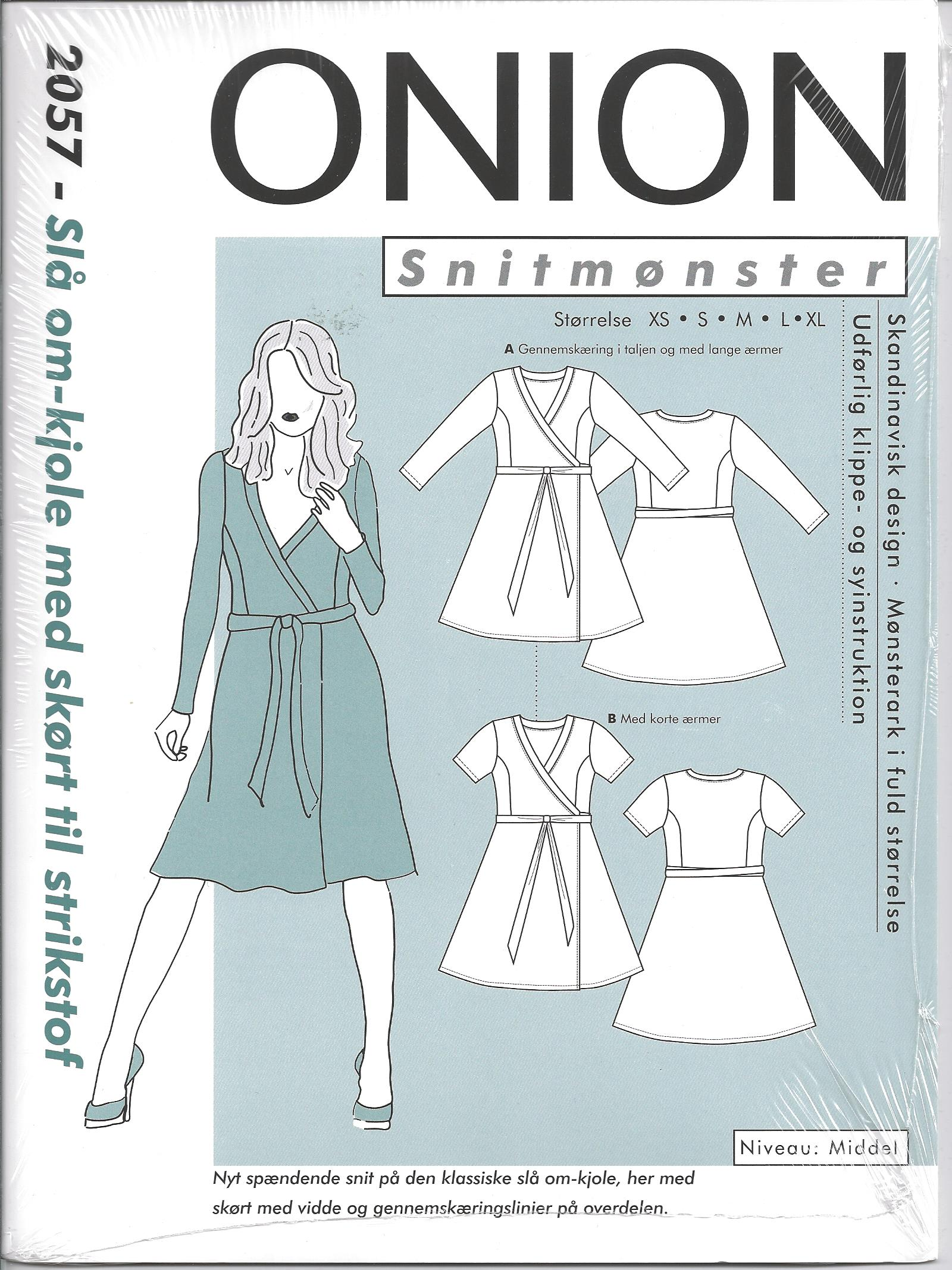 bb-naehshop.de - 2057 Onion Schnittmuster Kleid in Wickeloptik Gr. XS-XL