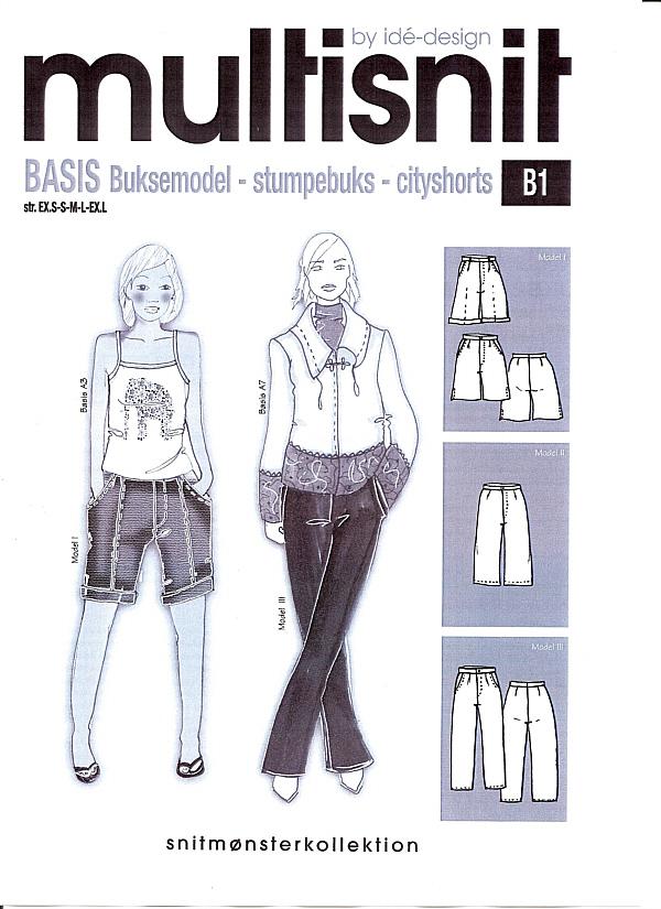 bb-naehshop.de - Multisnit B1 Schnittmuster verschiedene Hosen ...